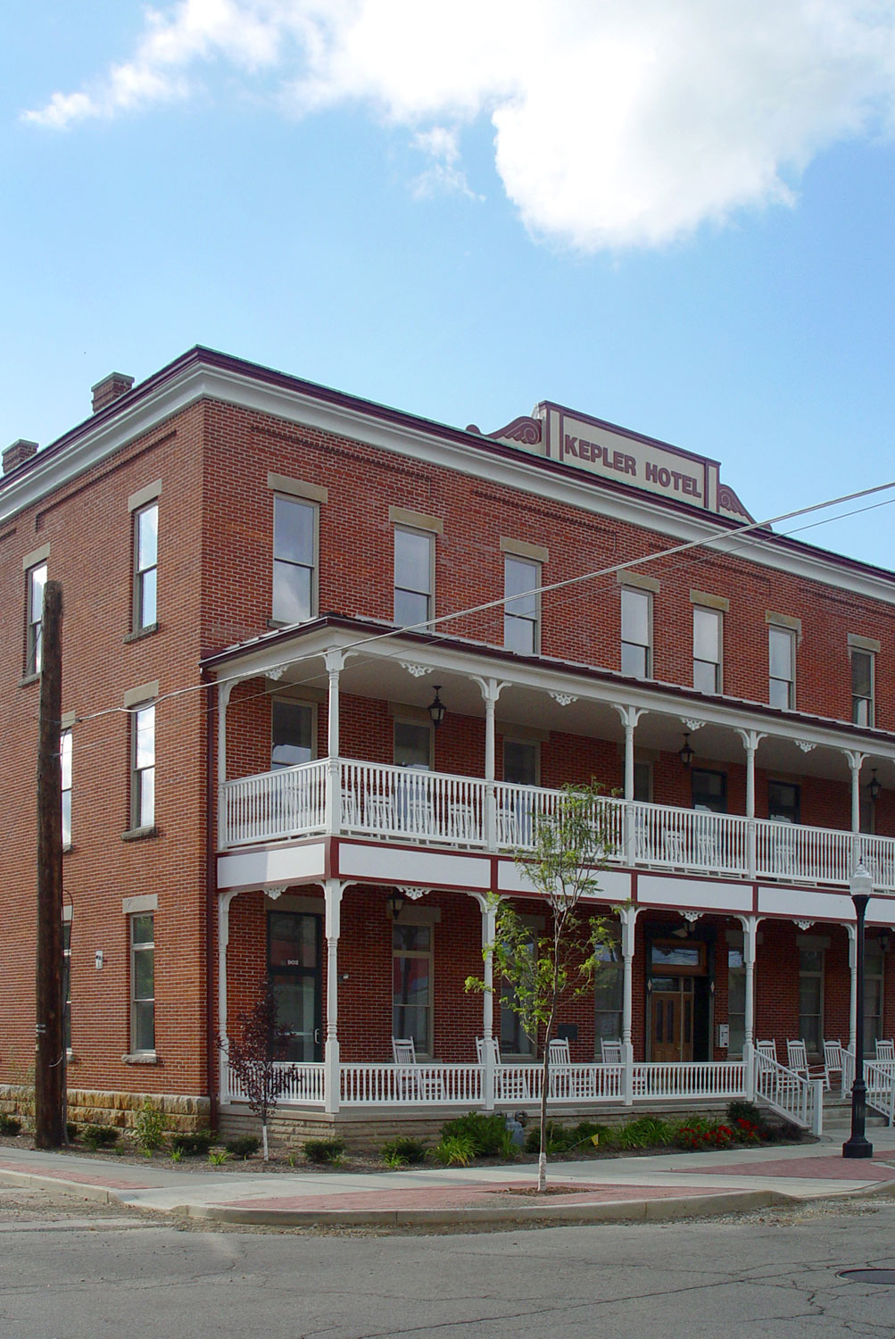 The Kepler Hotel Is In Heart Of Historic District Meadville Pa Immediately Adjacent To Old Market House Remaining Portion Block